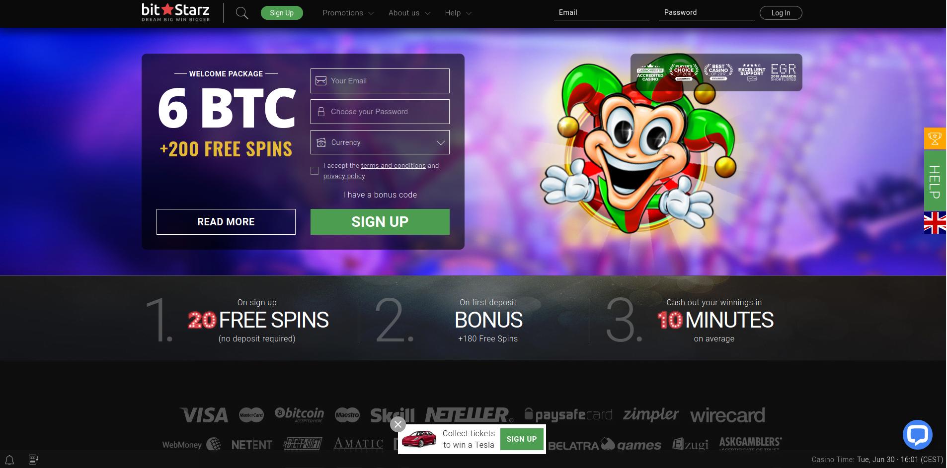 Bit Starz casino Bonus
