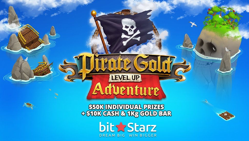 Win a 1kg Gold Bar in Pirate Gold Level up Adventure at BitStarz