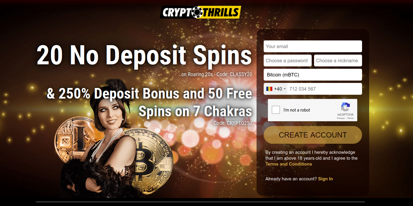 Crypto thrills casino review